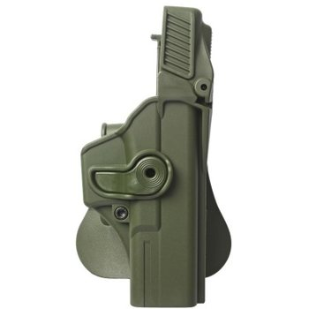 IMI Defense Polymer Retention Paddle Holster Level 3 for Glock 17/22/28/31, OD Green