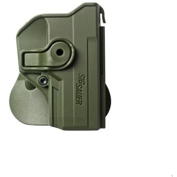 IMI Defense Polymer Retention Paddle Holster for Sig Sauer P250 Compact, P320, OD Green