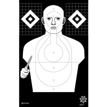 Law Enforcement Targets Las Vegas Metro (NV) PD Low-Light Hostile Qualification Cardboard Target