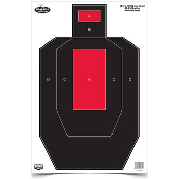 "Law Enforcement Targets Dirty Bird 16.5"" x 24"" IPSC Practice Splatter Target (100 Pack)"