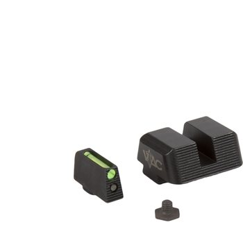 VTAC Pistol Sights (Glock) Fiber Front/Steel Rear