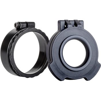 Tenebraex UAC103-CCR, Clear Tactical Clear Flip Cover with Adapter Ring, Ocular, Black in color. Double Tab Cover.