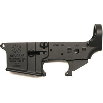 Noveske Receiver, Lower, Gen 1, Stripped, N4, BLK, Anodized, With Set Screw