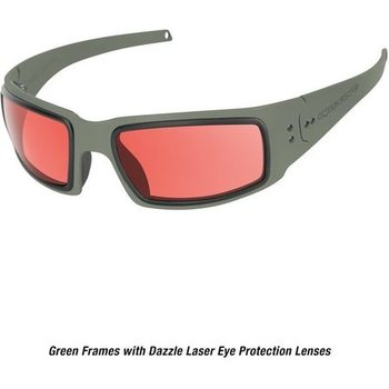 Ops-Core Mk1 Performance Protective Eyewear - Cerakote OD w/ Dazzle Laser Protection Lenses only