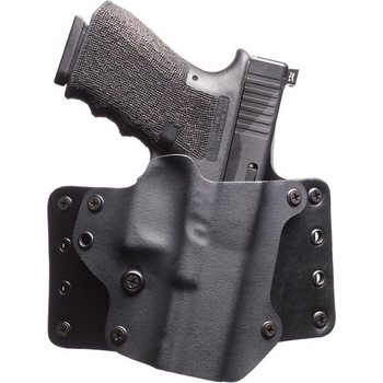 "BlackPoint Tactical Leather Wing Holster, 1.75"" belt loops, with Light, Canted"