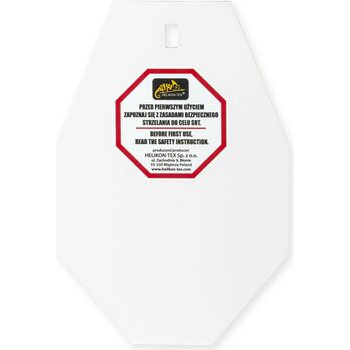 Helikon-Tex Srt Small Alpha Target® - Hardox 600 Steel - White