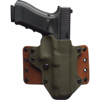 "BlackPoint Tactical Leather Wing Holster, 1.75"" belt loops, RDS Cut"