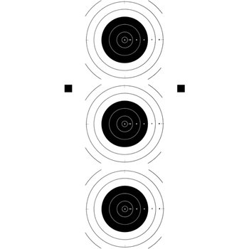 Law Enforcement Targets Three Bull's-Eye Training Target