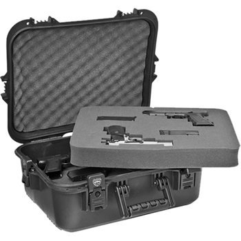 Plano Tactical AW XL Accessory Case w/ Foam - Black Latches/Handle, UPC, Blank Insert