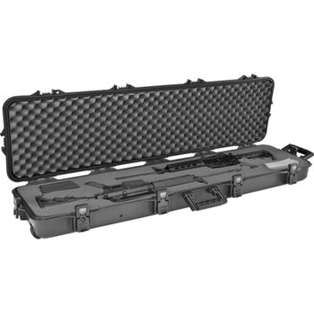 "Plano Tactical 52"" AW Case w/ Foam and Wheels - Black Latches/Handle, UPC, Blank Insert"