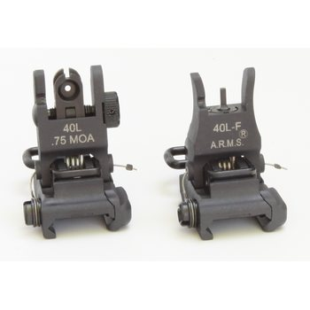 ARMS Low Profile Flip Up Rear Sight & Folding Front Sight