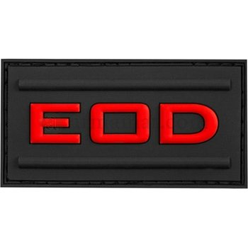 Clawgear EOD Rubber Patch, Black Medic