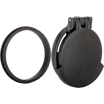 Tenebraex Schmidt & Bender 10x42 PM Objective Black Flip Cover with Adapter Ring AR or ARD NOT Required 42SBCF-FCR