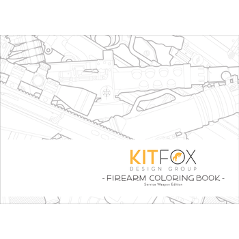 KitFox Firearm Coloring Book, Service Weapon Edition