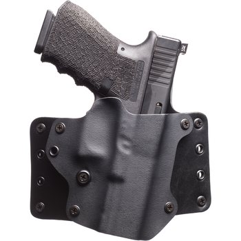 "BlackPoint Tactical Leather Wing Holster, Right handed, 1.75"" belt loops, Canted"