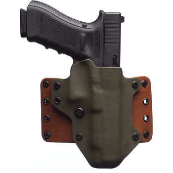 "BlackPoint Tactical Leather Wing Holster, Right handed, 1.75"" belt loops"