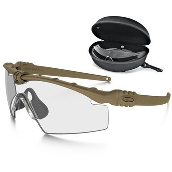 Oakley SI Ballistic M-Frame 3.0, Dark Bone, Clear & Gray