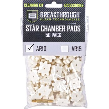 Breakthrough AR-10 Star Chamber Pad - 50 Pack with 8-32 thread (male / male) adapter