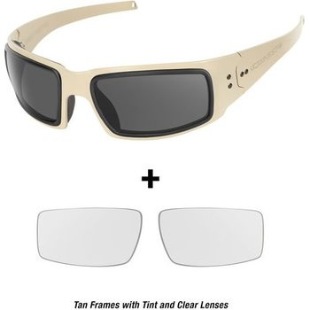 Ops-Core Mk1 Performance Protective Eyewear - Cerakote FDE w/ Tinted and Clear Lenses