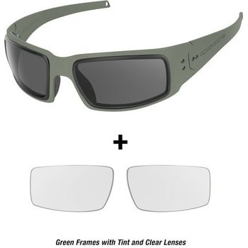 Ops-Core Mk1 Performance Protective Eyewear - Cerakote OD w/ Tinted and Clear Lenses