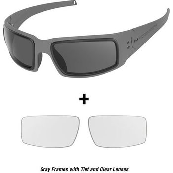 Ops-Core Mk1 Performance Protective Eyewear - Cerakote Gray w/ Tinted and Clear Lenses