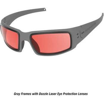 Ops-Core Mk1 Performance Protective Eyewear - Cerakote Gray w/ Dazzle Laser Protection Lenses only