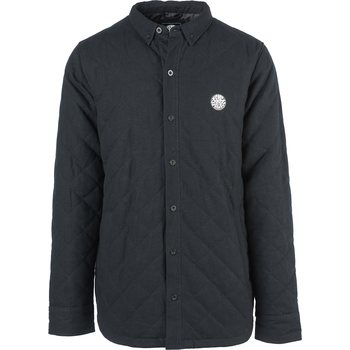 Rip Curl Wetty Long Sleeve Overshirt, Black, M