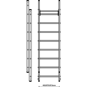 FDS Multi-level (twin stile) extension ladder CAL3507