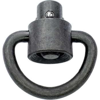 Ferro Concepts D LOOP HEAVY DUTY PUSH BUTTON QD SWIVEL 1""