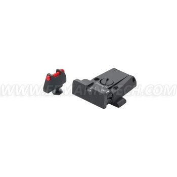 Eemann Tech LPA SPR36GL7F ADJUSTABLE SIGHT SET FOR GLOCK WITH FIBER OPTIC FRONT