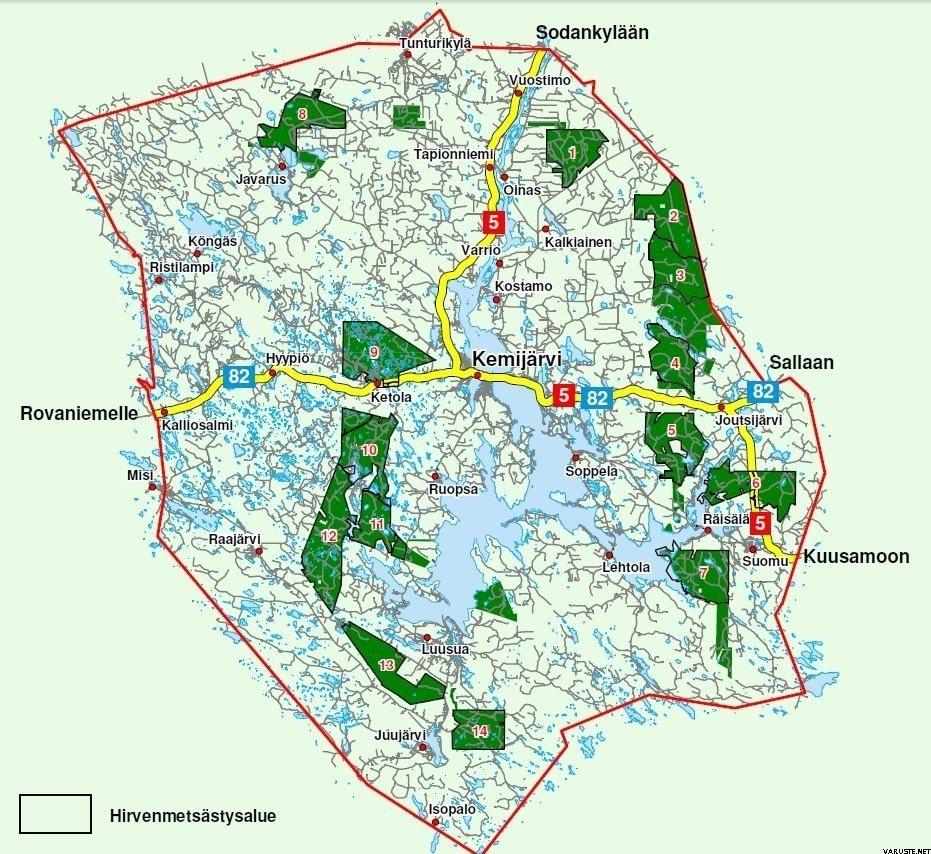 Kemijarven Yhteismetsa Kartta Ja Saalisilmoituslomake